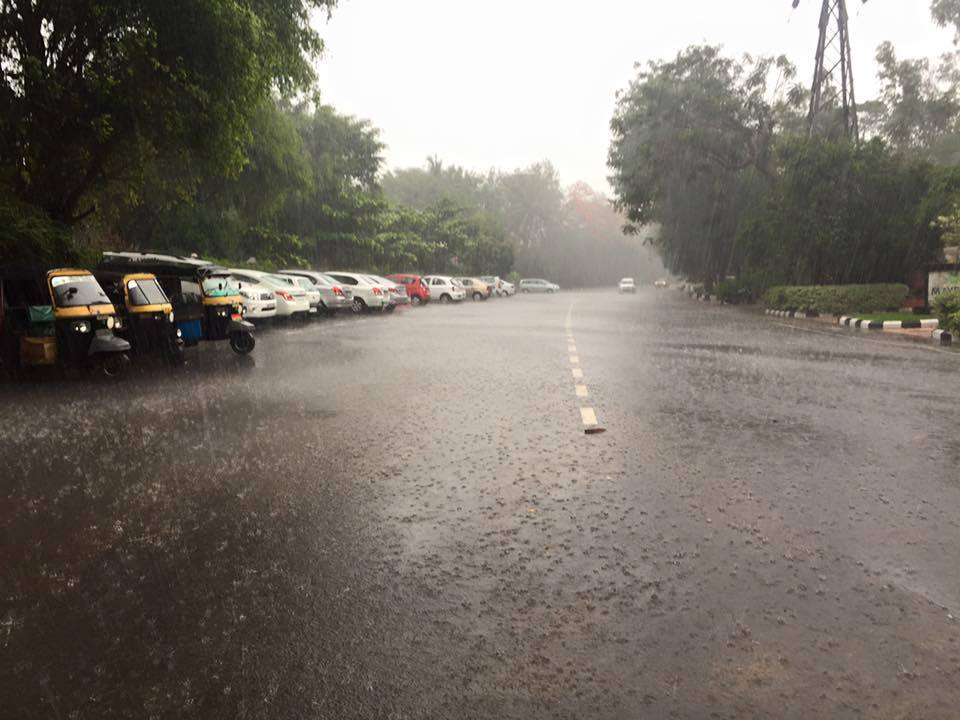 Raining in Bubaneswar