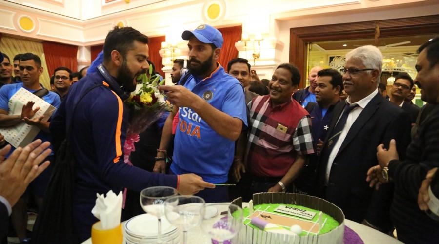 Celebration of Indian Team